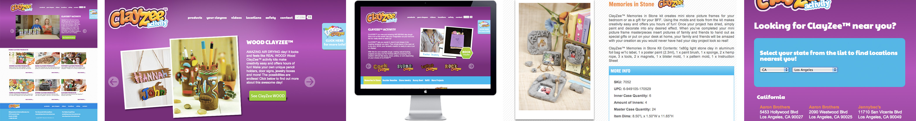 ClayZee Activity and Erasers website by Ampersand Web Design and Development Toledo, Ohio Northwest Ohio Amperandsand
