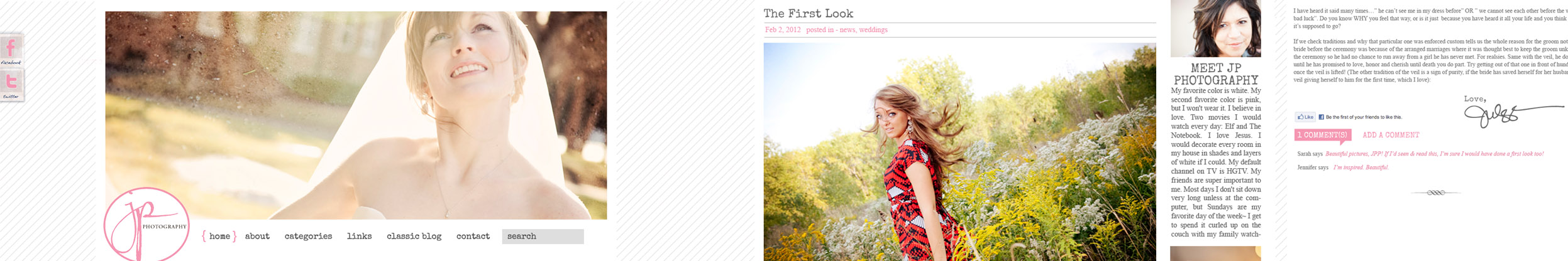JP Photography preview site